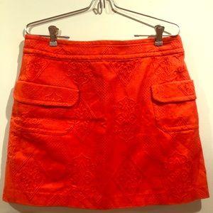EUC Poppy red mini skirt